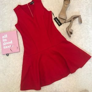 NWT Karl Lagerfeld Red Wool Dress